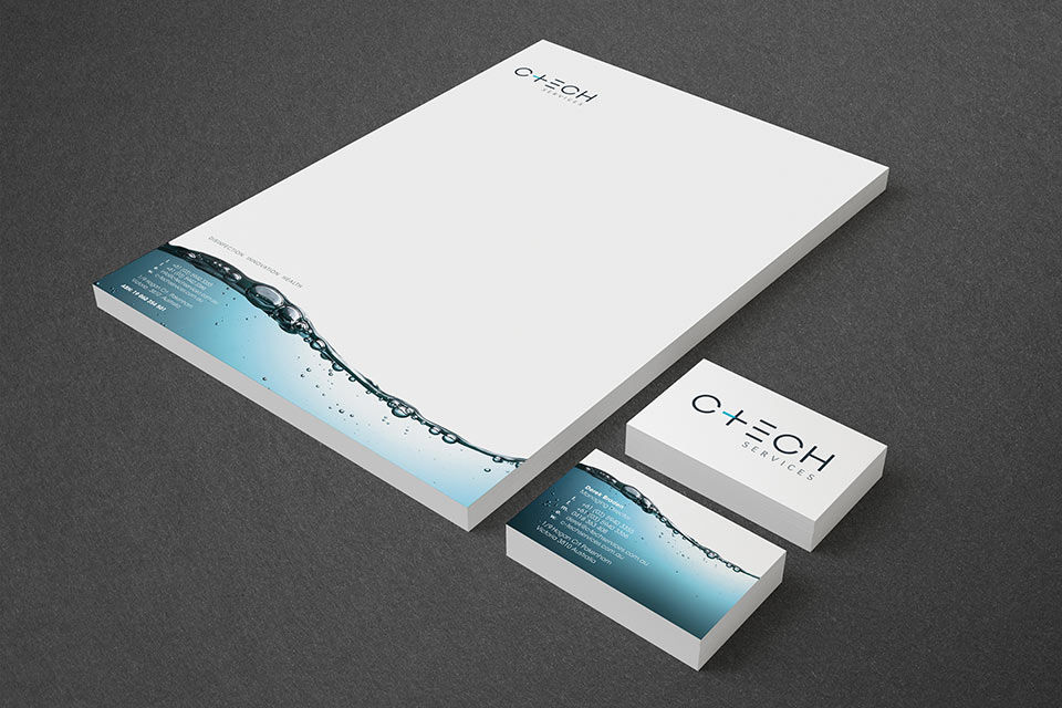 C-Tech-Letterhead-and-Business-Cards-on-Black
