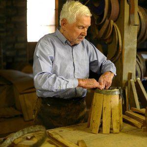 Cooper-making-barrel
