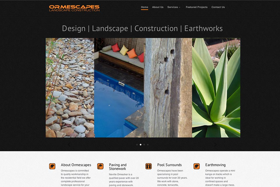 Ormescapes-website