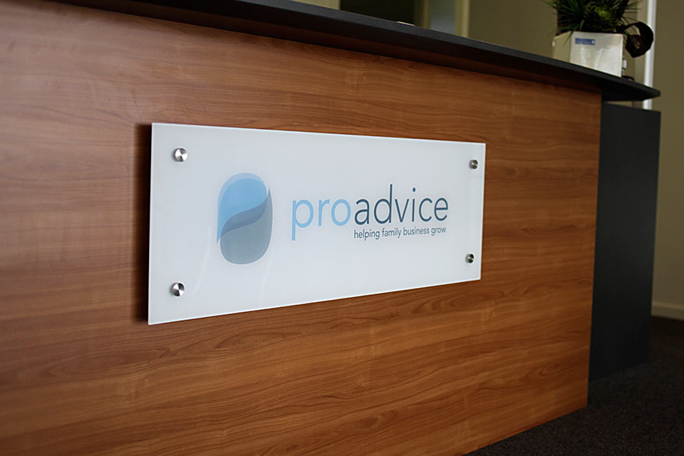 ProAdvice-Reception-Signage