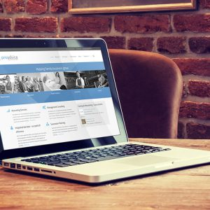 ProAdvice-Website on computer