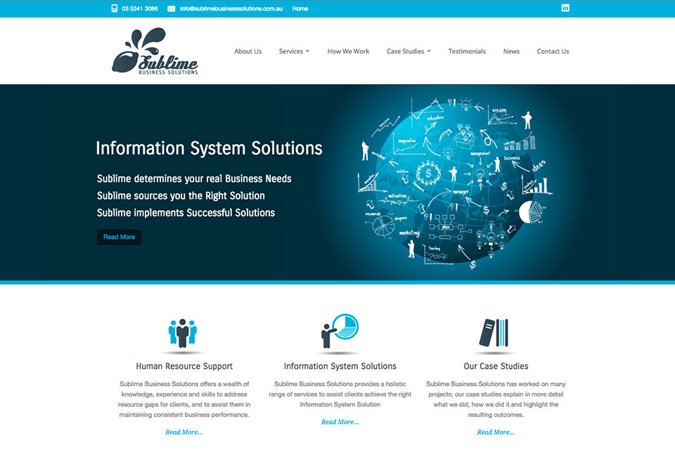 Sublime-Business-Solutions-website