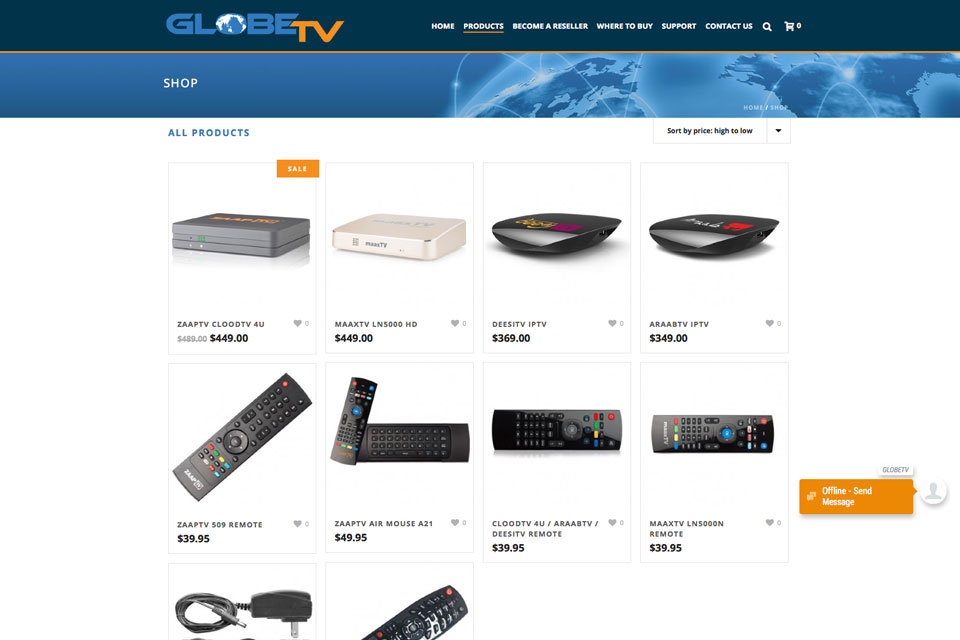 Globe-tv-website