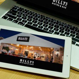 Billys Bistro & Bar Website Design Ballarat