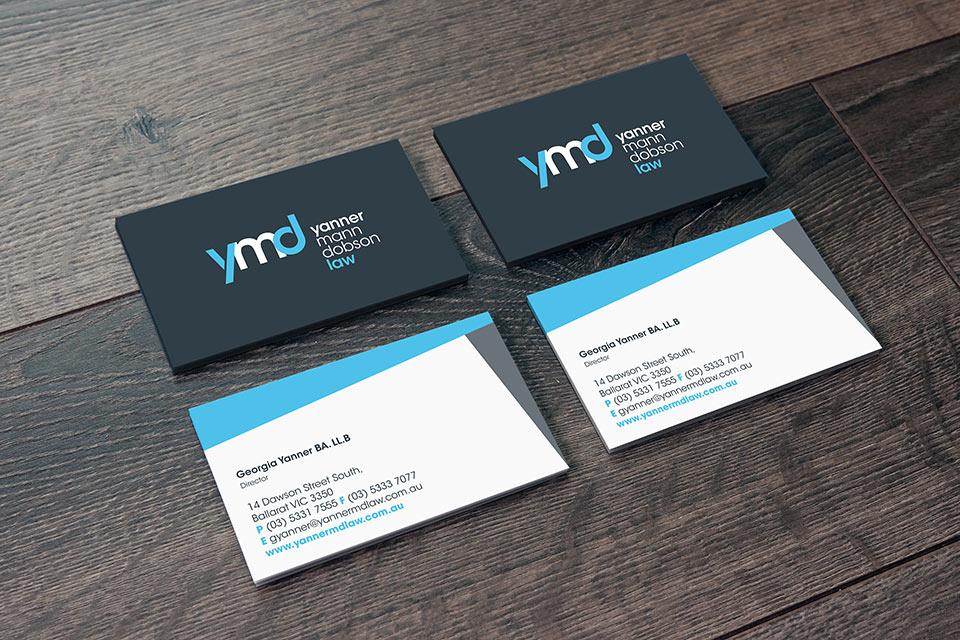Yanner-Mann-Dobson Ballarat Business Card Design