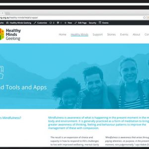 healthy-minds-geelong-website design
