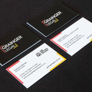 Branding Grainger Legal Business Cards