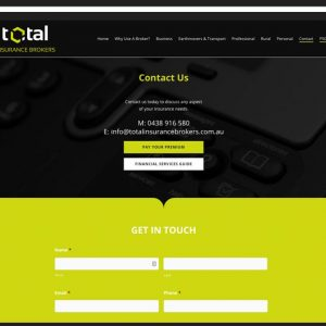 Total-Insurance-Brokers Website Design