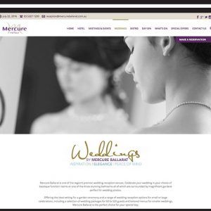 mercure-ballarat-website design