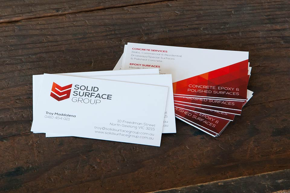 Solid surface group business card brown ink geelong ballarat torquay reheart Images